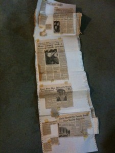 Newspaper clippings sheets Auckland Home Birth Association (2007/3)